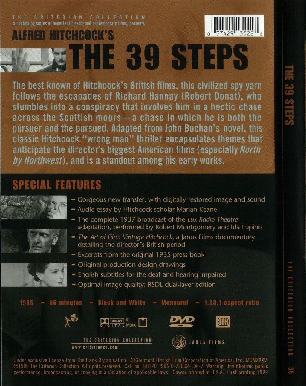 the steps criterion collection usa the dvd cover rear scan