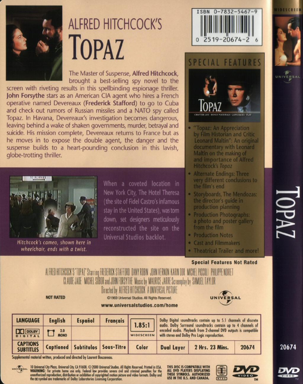 Topaz (1969) - Universal (USA, 1999) - The Alfred Hitchcock Wiki