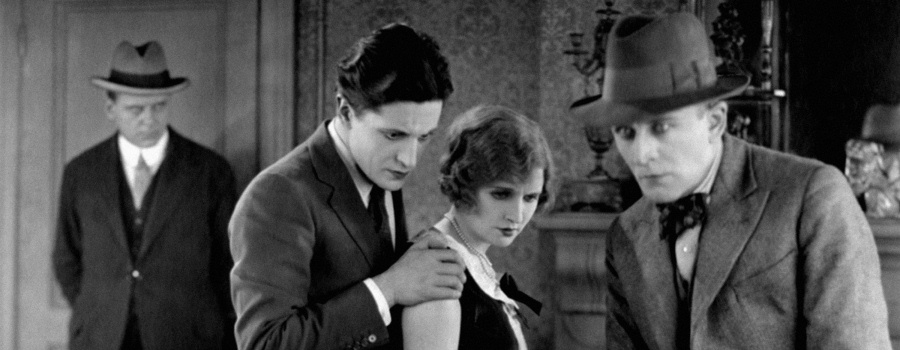 "Ivor Novello, June Tripp and Malcolm Keen in ""The Lodger"""