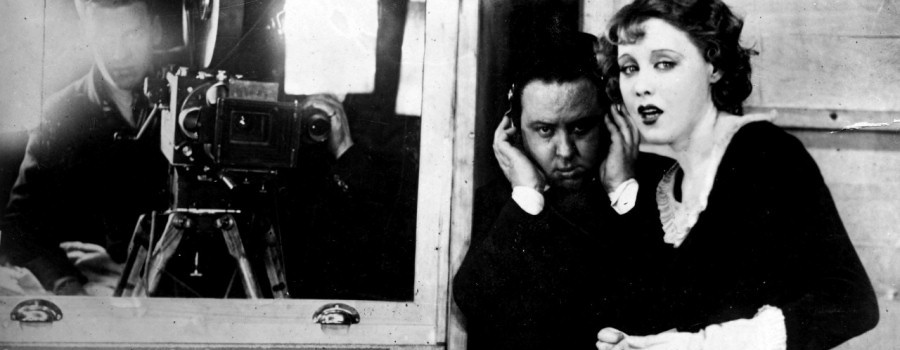 "Alfred Hitchcock directs actress Anny Ondra in ""Blackmail"""