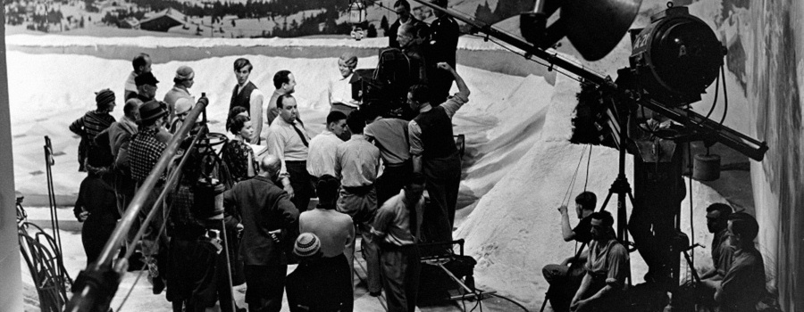 "On the set of ""The Man Who Knew Too Much"""