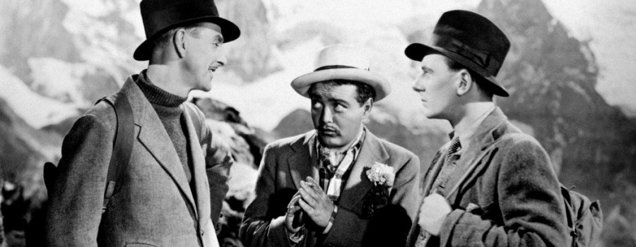 "Percy Marmont, Peter Lorre and John Gielgud in ""Secret Agent"""