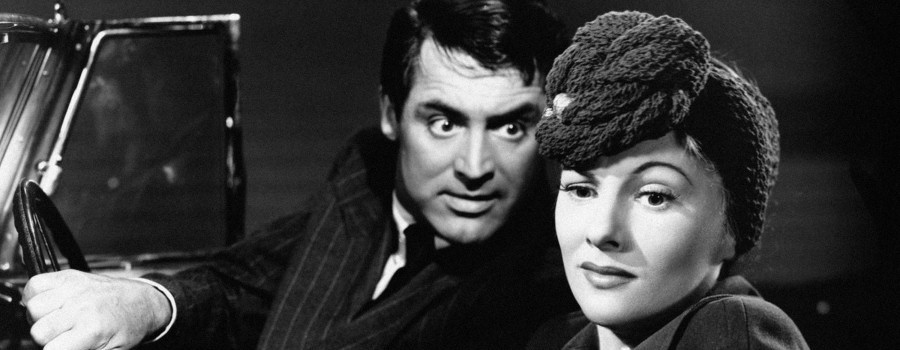 "Cary Grant and Joan Fontaine in ""Suspicion"""
