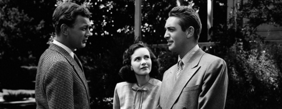 "Joseph Cotten, Teresa Wright and Macdonald Carey in ""Shadow of a Doubt"""