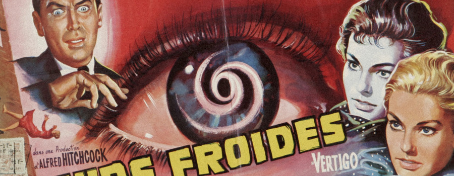 "Detail from a French poster for ""Vertigo"""