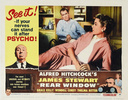 Rear Window (1954) - lobby card (set 2) - Re-issue lobby card for ''Rear Window''.