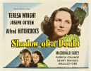 SHADOW OF A DOUBT (1943) - POSTER - Half sheet poster (28''x22'') for ''Shadow of a Doubt''.