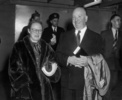 Alfred and Alma Hitchcock (1960) - Photograph of Alma Reville and Alfred Hitchcock, taken at Rome's Ciampino airport in October 1960.