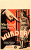 MURDER! (1930) - WINDOW CARD - US Columbia Pictures window card for ''Murder!'' (1930).