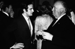 Alfred Hitchcock and Francois Truffaut - Photograph of Francois Truffaut and Alfred Hitchcock, taken in the 1960s.