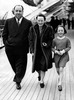 Alfred Hitchcock (1939) - Photograph of the Hitchcock family travelling to America, taken aboard the RMS ''Queen Mary'' at Southampton on March 4th 1939.