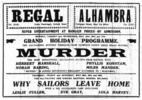 MURDER! (1930) - NEWSPAPER ADVERT - Newspaper advert for ''Murder!'', from the Burnley Express (23/May/1931)
