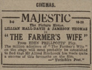 THE FARMER'S WIFE (1928) - NEWSPAPER ADVERT - Newspaper advert for ''The Farmer's Wife'', from the Hull Daily Mail (14/03/1929).