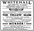 MURDER! (1930) - NEWSPAPER ADVERT - Newspaper advert for ''Murder!'' (1930) from the ''Kent and Sussex Courier'' (15/May/1931).