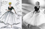 Rear Window (1954) - costume design - Edith Head costume design sketch for ''Rear Window'' (1954), along with the finished dress.