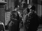 Film frame from ''Rebecca'' (1940) showing Hitchcock's cameo appearance.