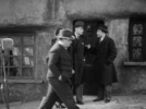 Film frame from ''Murder!'' (1930) showing Hitchcock's cameo appearance.