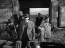 Film frame from ''The Paradine Case'' (1947) showing Hitchcock's cameo appearance.