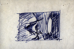 Storyboard sketch for ''Psycho'' (1960).